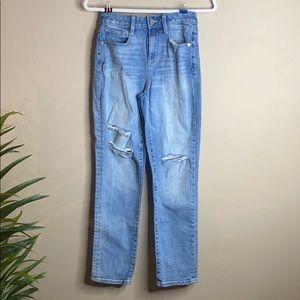 Arizona Jean Co Size 1 Ripped Denim Boyfriend Jean